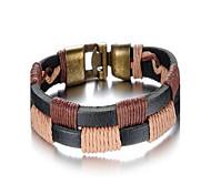 Fashion Men's Alloy Leather Bracelet(1 Pc)