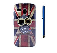 4.5 Inch TPU Soft Case Back Cover and Pen as Gift for Motorola Moto G