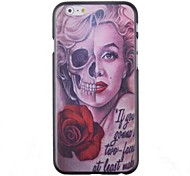 Cartoon Cool Skulls Beauty Pattern Back Case for iPhone 6