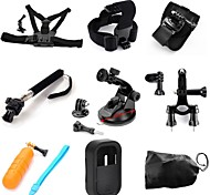 TOZ 9 in1 Kit Chest+Head Strap+Arm Band+Monopod+Suction Cup+Handlebar Seatpost + Floating Gripfor Gopor Hero4/3+/3