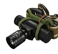Linternas de Cabeza (Enfoque Ajustable / A Prueba de Agua / Recargable / Resistente a Golpes) - LED 3 Modo 350/150/100 LumensCree XR-E