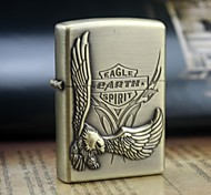 Personalized Engrave Eagle Pattern Gold Metal Oil Lighter