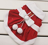 Cat / Dog Costume / Dress Red Dog Clothes Winter Bowknot Cosplay / Christmas / New Year's