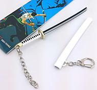 una pieza de 17 cm Zoro Roronoa clave blanco accesorios de cosplay cadena