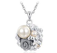 Platinum Pearl Flower Necklace Roxi®(1pc)