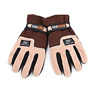 Full-finger Gloves / Winter Gloves Men's Keep Warm Ski & Snowboard / Cycling/Bike Brown Wool
