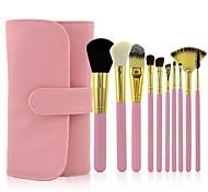 MAKE-UP FOR YOU 10Pcs Pink Professional Makeup Brush Set