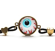 Time Gem Halloween Eye Hamsa Glass Cabochon Bracelet
