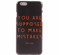 Supposed To Make Mistake Design Hard Case for iPhone 6 Plus