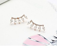 The New Design Unique Eyelash Diamond Stud Earrings