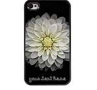 personalizzato phone case - big caso di disegno di loto in metallo per iPhone 4 / 4S