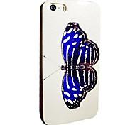 Toophone® JOYLAND Flash Powder TPU Dark Blue Butterfly Soft Back Case for iPhone 5/5S