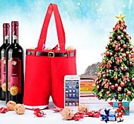 Natal calças forma de bolsa do presente do vinho