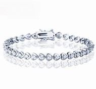 The Hearts Bracelet Jewelry,in 925 Sterling Silver  Bracelet Jewelry,Cubic Zirconia  Bracelet,Women's  Bracelet Jewelry