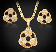 U7® High Quality AAA+ Zirconia Charm Pendant Necklace Earrings Set