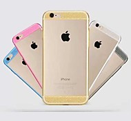 Fashion Transparent Flash Powder TPU Cover for iPhone 6(Assorted Colors)