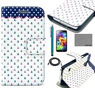 Für Kreditkartenfächer / mit Halterung / Flipbare Hülle / Muster Hülle Handyhülle für das ganze Handy Hülle Anker Hart PU - Leder Samsung