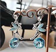 Love Is You Flying Angel Pendant Earrings