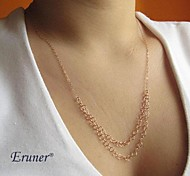 Eruner® Fashion Double Chain Alloy Necklace