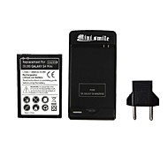 Minismile™ US Plug USB Battery Charger Comes with 2800mAh Battery and EU Plug for Samsung GALAXY S4 MINI / I9190