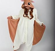 Kigurumi Pajamas Squirrel / Mouse Leotard/Onesie Halloween Animal Sleepwear White Patchwork Polar Fleece Kigurumi UnisexHalloween /