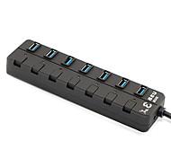 USB3.0-Hubs 1 x 7 USB3.0 High-Speed-7-Ports erweitert Konverter Hubs