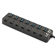 Hubs USB 3.0 1 x 7 USB 3.0 de alta velocidade 7-portos concentradores conversor prorrogado