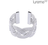 Lureme®Silver Plated Net Shaped Alloy Bracelet
