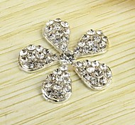 1PCS Flower Alloy Accessories Embedded Rhinestone Handmade DIY Craft Material