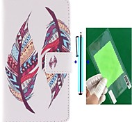 Double Feather Design PU Leather Full Body Case with Screen Protector, Stylus and Stand for Motorola MOTO X+1
