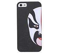 """Black Back """"Big Left Face"""" Design Case Hard Case for iPhone 5/5S"""