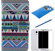 National Wind Design PU Leather Full Body Case with Stylus、Protective Film and Soft Pouch for Motorola G2
