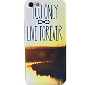 You Live Only Forever Pattern Hard Case for  iPhone 4/4S
