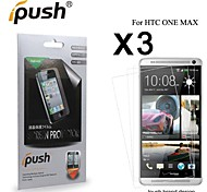 High Transparency HD LCD Screen Protector for HTC One max (3 Pieces)