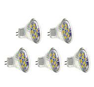 4W GU4(MR11) Focos LED 9 SMD 5730 400-430 lm Blanco Cálido AC 12 V 5 piezas