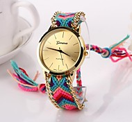 Women Big Circle Dial  National Hand Knitting Brand Luxury Lady Watch C&D-278