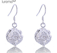 Lureme®925 Sterling Silver Plated Rose Shape Earrings