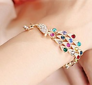 moda gemas de colores pulsera de pavo real # 57-1