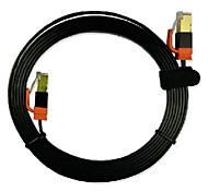 3m cabo de rede 9,84 pé cat7 cabo de conexão de rede de fibra óptica blindagem plano de ouro de placa de alta velocidade