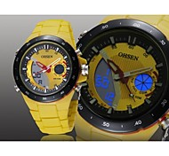 Men's Black Round Watch Dial Silicone Band Japan Movement Fashion Diving Sport Watch Wristwatch(Assorted Colors)