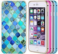 lacdo® colorido alumínio tampa traseira caixa de metal pára-choques moldura armadura completa para proteger iphone 6 (cores sortidas)