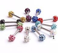 CZ Shamballa Crystal DIsco Ball Body Piercing Tragus Bone Earring Girls Ear Stud