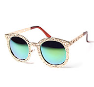 plástico redondas retro óculos de sol das mulheres anti-reflexo