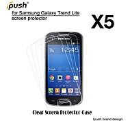 protetor de alta transparência hd lcd de tela para Samsung Lite tendência galáxia s7390 (5 peças)