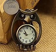 liga personalizado presente coruja relógio em forma gravado fivela chave