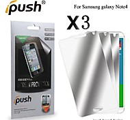 High Transparency Mirror LCD Screen Protector with Cleaning Cloth for Samsung Note 4 (3 Pieces)