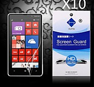 HD Screen Protector with Dust-Absorber for  Nokia Lumia 820 (10 PCS)