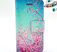 The Cherry Blossom Pattern PU Leather Full Body Case with Card Slot and Stand for iPhone 4/4S