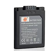 DSTE CGA-S001E / DMW-BCA7 3,7 V 900mAh Akku für Panasonic DMC-f1 fx1 fx5 Kamera