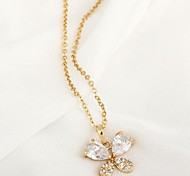Women's Zircon Butterfly Pendant Necklaces